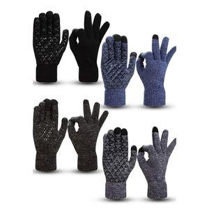 🆕️ 4 Pairs Knit Elastic Anti-slip Gloves Large